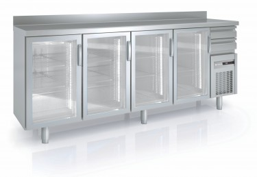 Coreco Back Bar Counter Fridge with Glass Doors FMRV