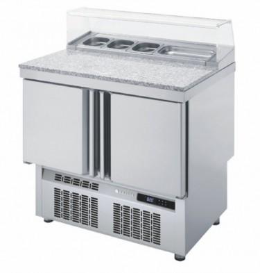Coreco 2 Solid Door GN 1/1 Saladette Counter with Granite Worktop MFP-100