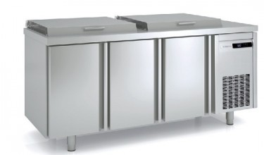 Coreco GN 1/1 2 Solid Door Salad Chef Counter with Hinged Lid – MFE-150