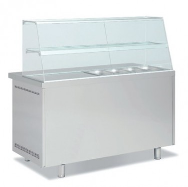 Coreco GN 1/1 Double Solid Door Kebab Counter with Glass Cover – MFK70-135