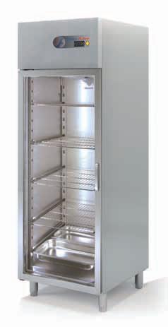 Coreco S-Line Single Glass Door Upright GN 2/1 Fridge CGRE-751-S