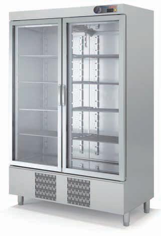 Coreco S-Line B/M Double Glass Door Upright Fridge CSRV-1302-S