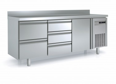 Coreco Counter Fridge with Solid Doors and Drawers 700mm- MRG Range