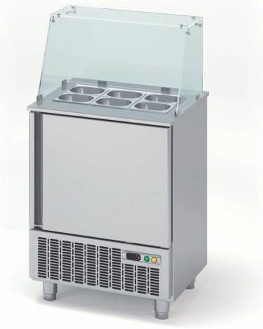 Coreco GN 1/1 Single Solid Door Fast Food Unit with Glass Cover – MFK-65