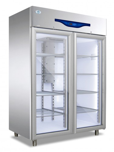 Everlasting Standard Upright Glass Double Door Freezer – PROFESSIONAL 1200