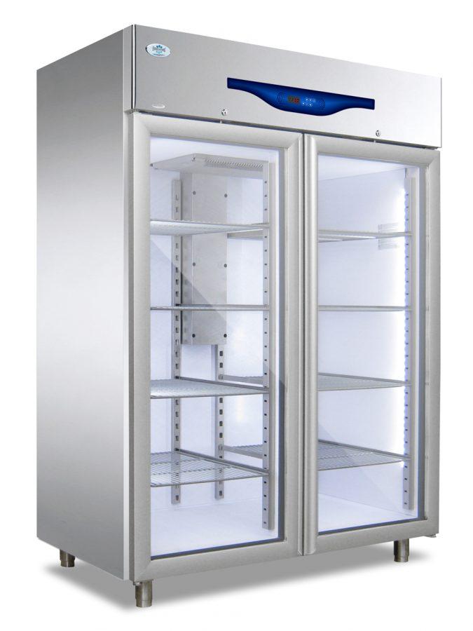 Everlasting Standard Upright Glass Double Door Freezer Professional 1200