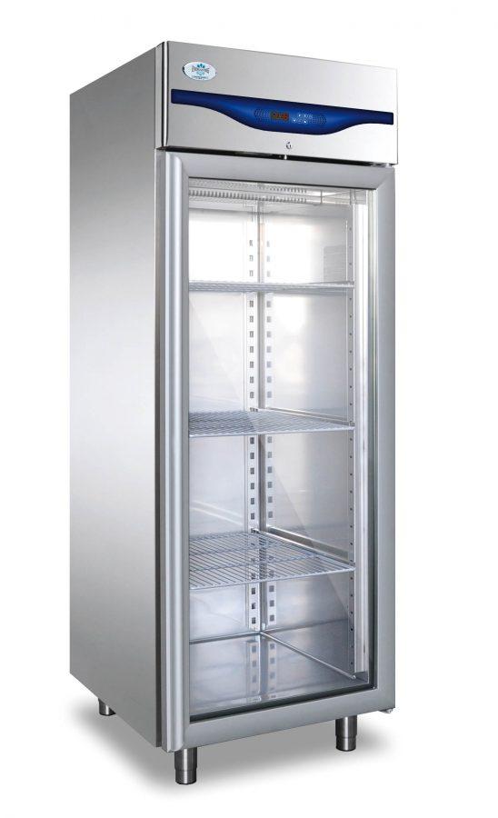 Everlasting Upright Single Glass Door Freezer Professional 700