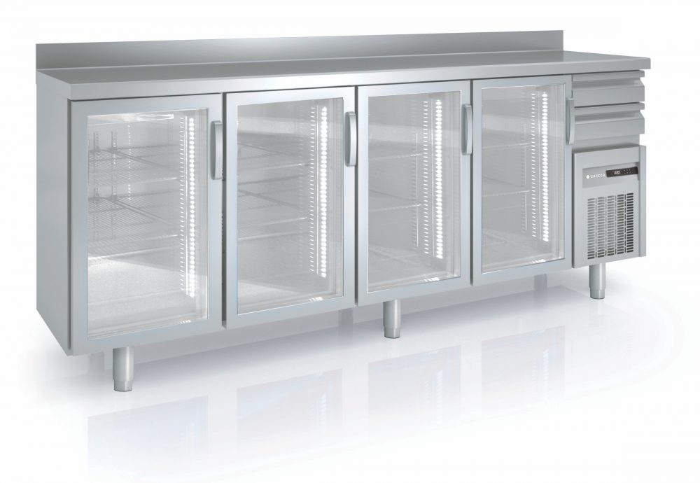 Coreco Back Bar Counter Fridge With Glass Doors Fmrv Angel