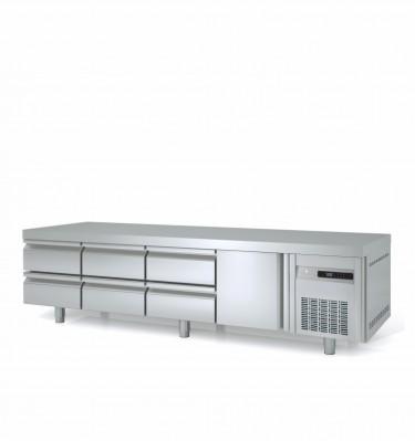 Coreco GN 1/1 Under Broiler Counter Fridge MFB Range