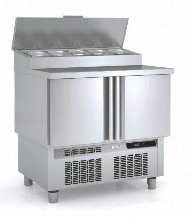 Coreco 2 Door GN 1/1 Saladette Counter with Stainless Steel Worktop MFE170-100