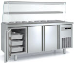 Coreco GN 1/1 3 Solid Door Kebab Counter with Glass Cover – MFK70-180