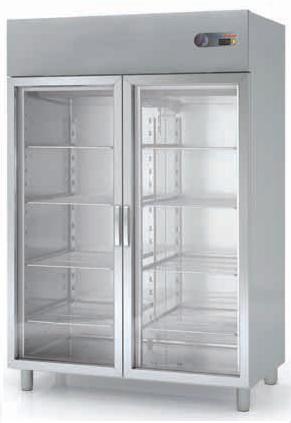 Coreco S-Line Double Glass Door Upright GN 2/1 Fridge CGRE-1002-S