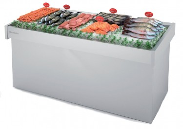 Fish and neutral Display counter for market-BFP-220